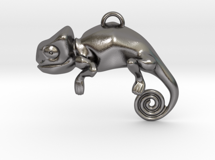 Enigmatic Chameleon Pendant 3d printed