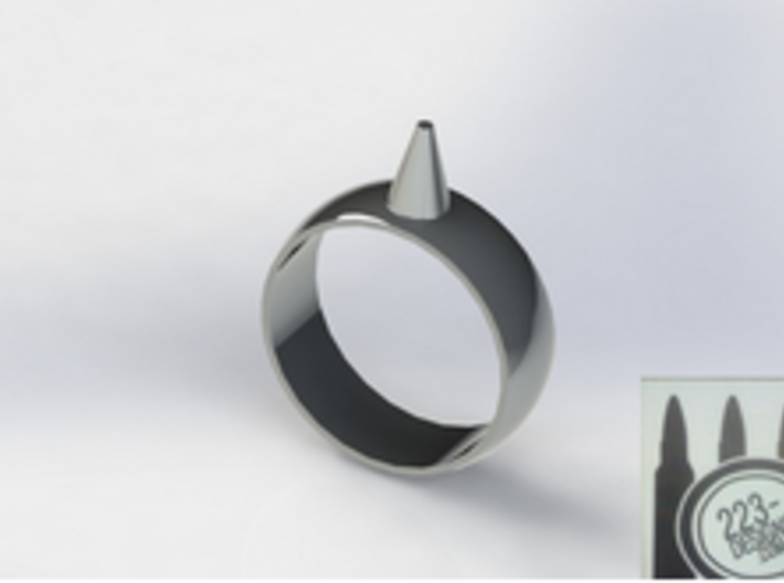 223-Designs Bullet Button Ring Size 15.5 3d printed