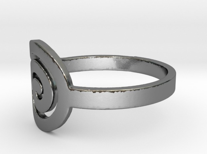 Spiral(R)ing 3d printed Polished SIlver