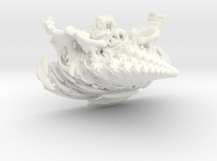 Mandelbulb Spine Wall Ornament 3d printed