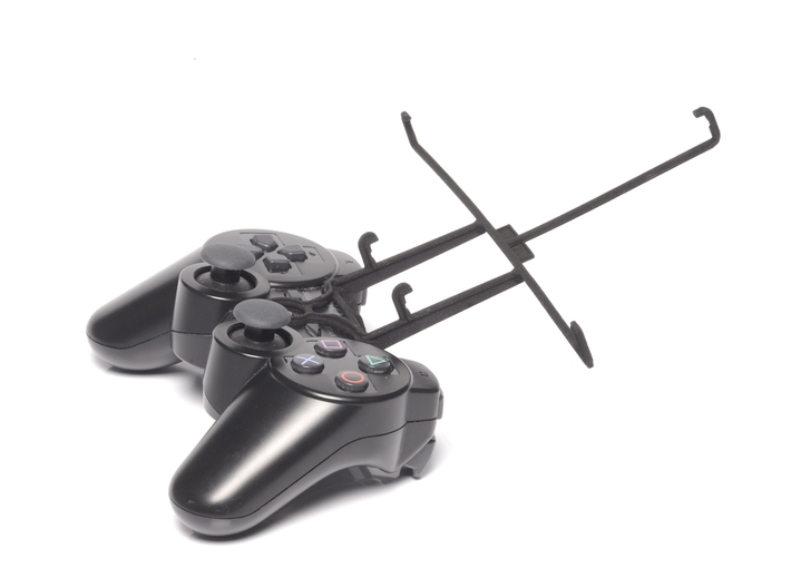 PS3 controller & Plum Ten 3G 3d printed Without phone - Black PS3 controller with Black UtorCase