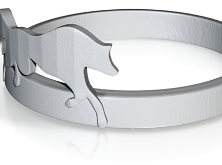 Run with the Wolf Ring size UK:K US:5 1/4 3d printed