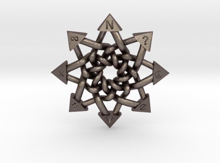 Celtic Chaos Pendant 3d printed
