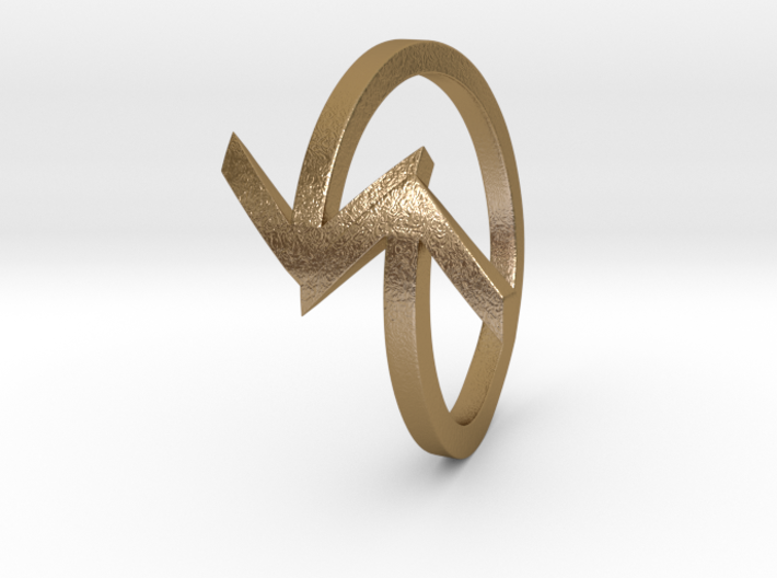 Arrow Ring (Size 7) 3d printed
