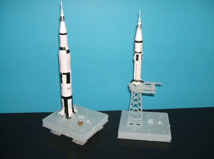 1/400 NASA LUT levels 13-18 Launch Umbilical Tower 3d printed A customers launch pads, crawler & Milkstool.. awaiting the LUT.