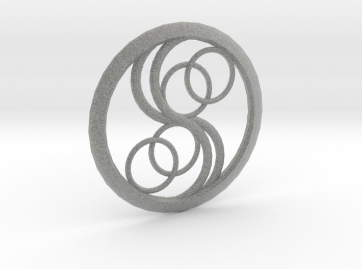 Double Yin Pendant 3d printed