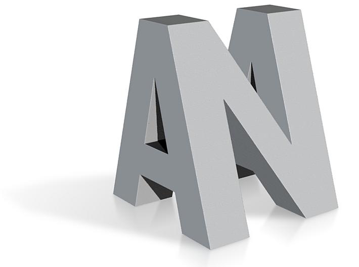 Initials morphling 3d printed