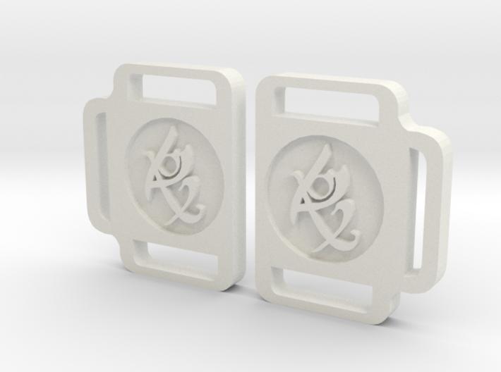 TMI Rune Side Buckles Set 3d printed
