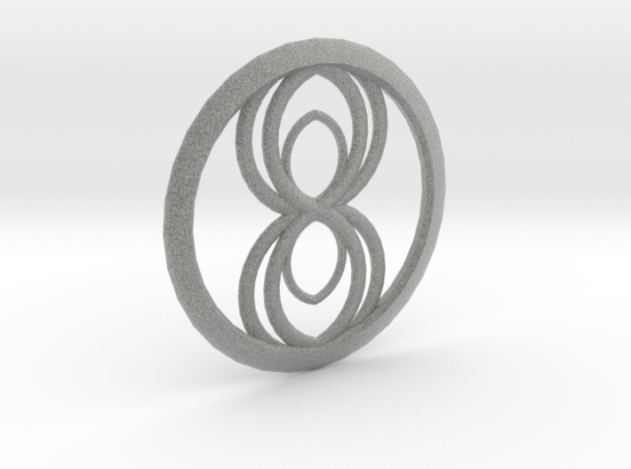 Infinity Spider Pendant 3d printed