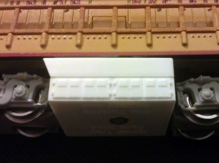 GE Gas Turbine Battery Box x2 - (N Scale) 1:160 3d printed