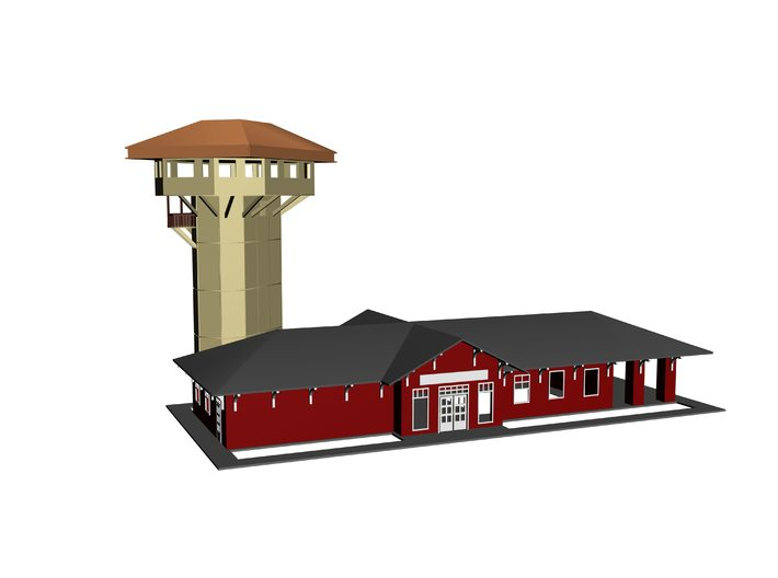 Golden Spike Tower and main building Z 3d printed 3D Drawing