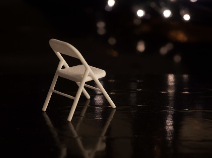 10 1:24 Metal Folding Chairs 3d printed