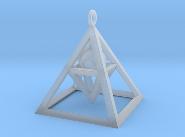 Sight of Pyramid Pendant 3d printed