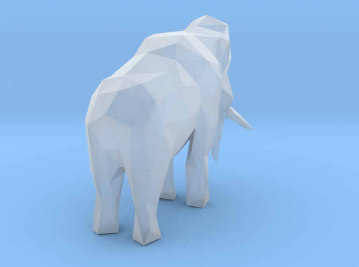 Low-poly Woolly Mammoth 3d printed