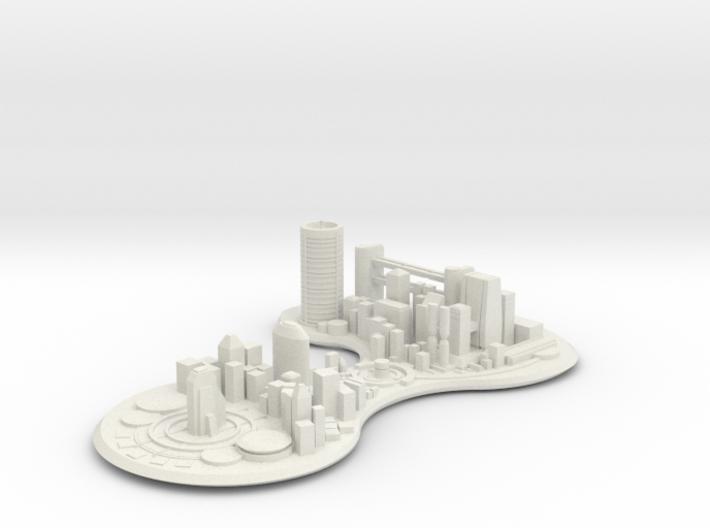 Futuristic city concept 3d printed