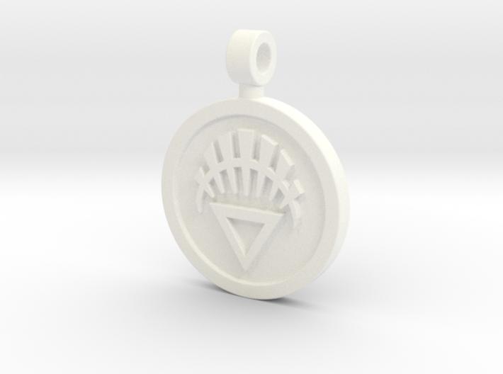 White Lantern Pendant 3d printed