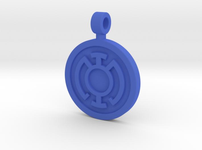 Blue Hope Pendant 3d printed