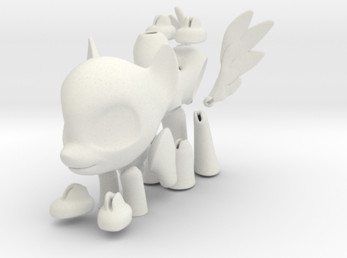 Pegasus BJD Pony: Small size 3d printed
