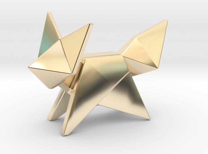Origami Fox 3d printed