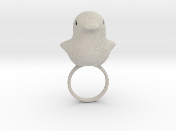 Ring Chicken Size US 7 (17.3 mm) 3d printed