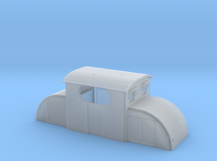 Upper chassis for E13 electric model locomotive 3d printed Upper chassis for freelance electric locomotive E13