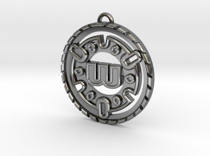 Custom Initial Pendant 3d printed