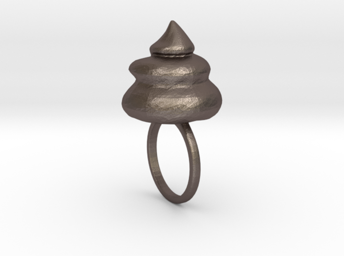 Big Shit Ring Size US 7 (17.3mm) 3d printed