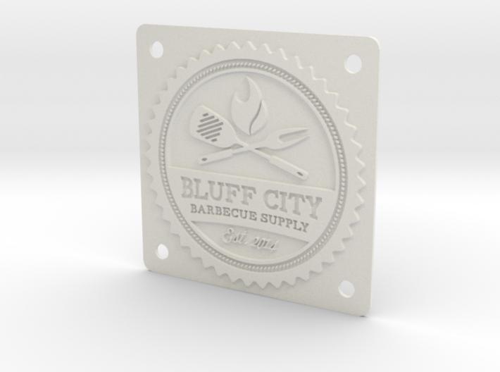 Bluff City Badge 3d printed