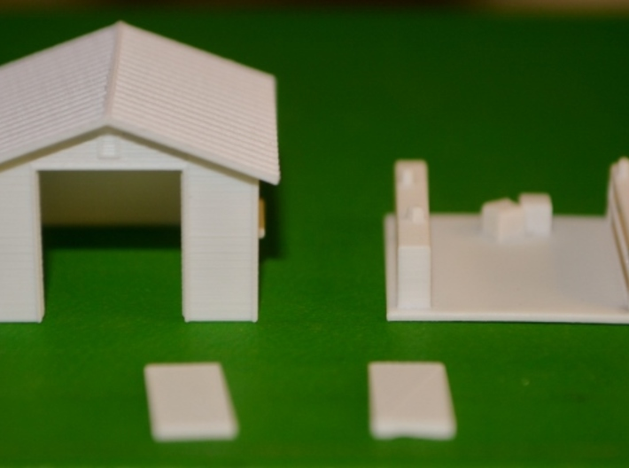 HO-Scale Backyard Shed (Revised) 3d printed Production Sample (N-Scale Version)
