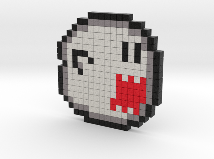 8 bit pixel - Mario game character Boo 3d printed