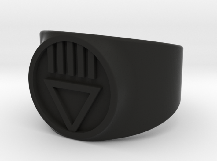 Black Death GL Ver 2 Ring Sz 8 3d printed