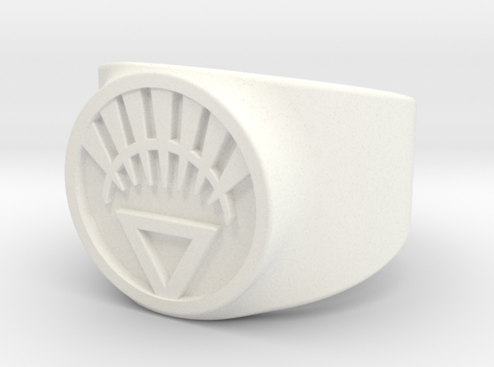 White Life Ver 2 GL Ring Sz 8 3d printed