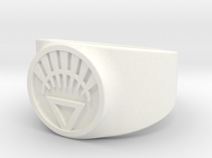 White Life Ver 2 GL Ring Sz 13 3d printed