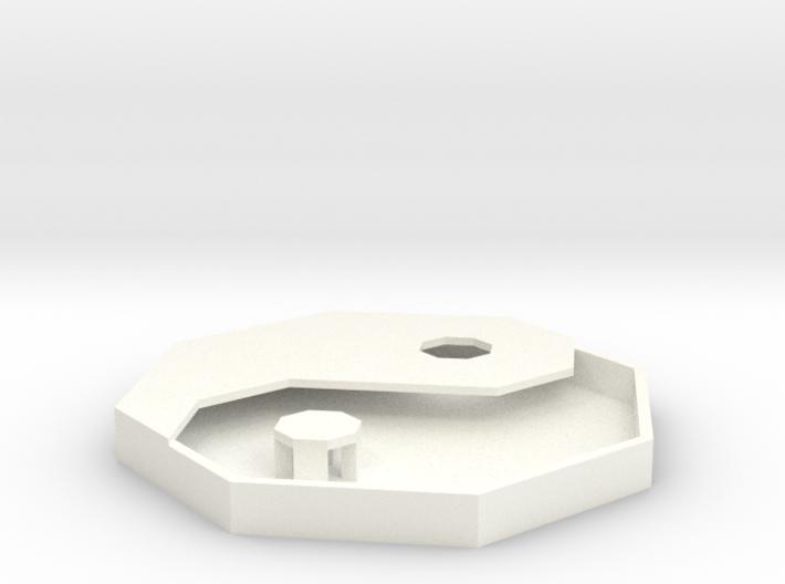 Yin Yang Lowpoly Shadowbox 3d printed