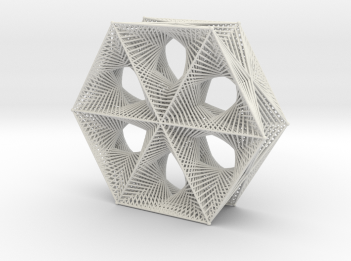 Star Shape Doubly Straight Line Curves 3d printed