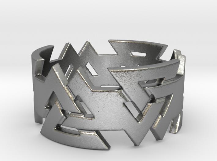 Valknut ring. Ring Size 11 3d printed
