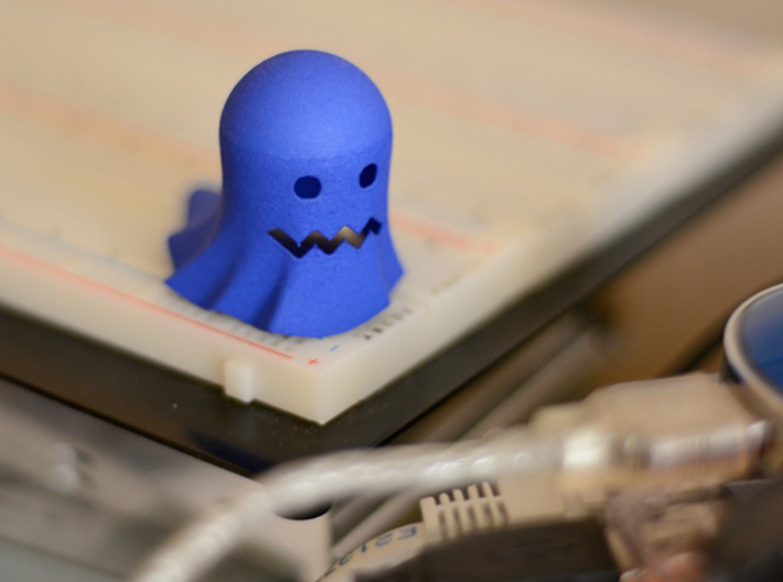 Retrogaming: Ghost (Scared) 3d printed Great companion for your geeky lab