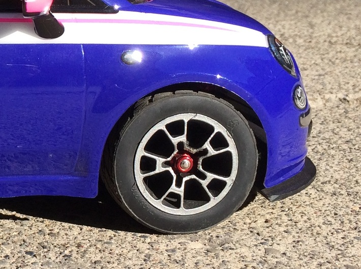 RIM006-01 Tamiya M Chassis Fiat 500 Sport Wheel  3d printed Painted and Installed on M03-m