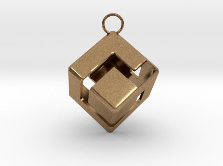 Gamecube Logo Pendant 3d printed