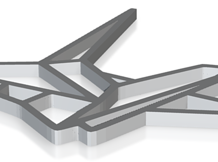 Pendant Origami Crane v2 3d printed