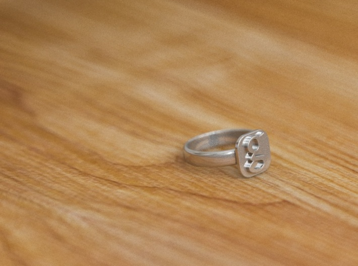 Google Plus Ring 6size 3d printed