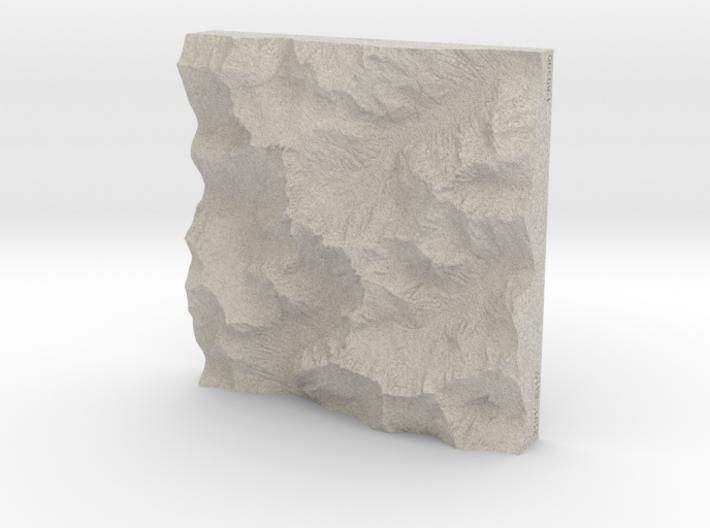 6'' Picket Range, Washington, USA, Sandstone 3d printed