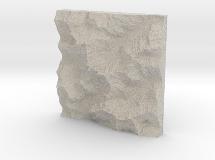 8'' Picket Range, Washington, USA, Sandstone 3d printed
