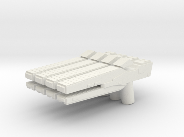Custom rail gun x4 for Lego minifigs 3d printed