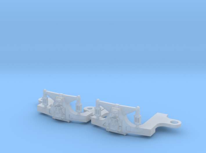 HO scale Hodges trailing truck for ATSF steam loco 3d printed