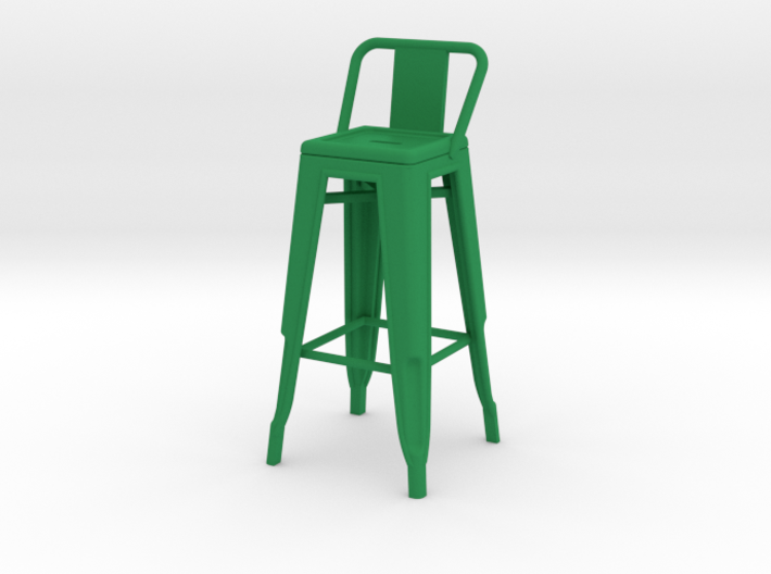 1:12 Tall Pauchard Stool, with Short Back 3d printed
