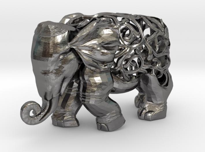 Figurine Elephant Verziert 3d printed