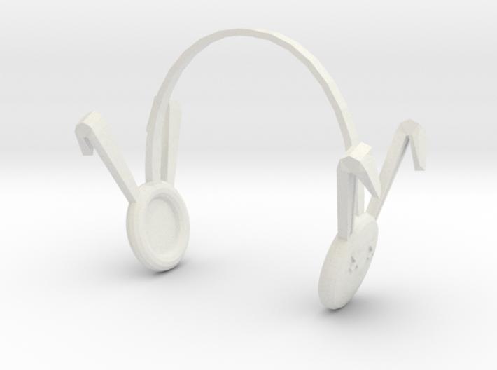 Dollfie Bunny Earmuffs 3d printed