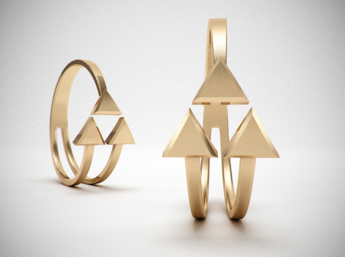 Ring of Triforce 3d printed