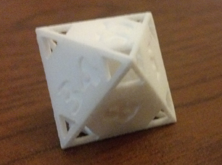 """Fibonacci """"Doubling"""" Octahedron 3d printed WSF, uncolored and uninked."""